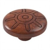 Wooden Engraved Knob 422TK